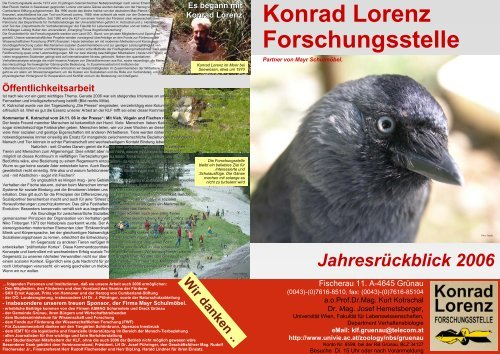 Jahresbericht 2006 – Konrad Lorenz Forschungsstelle Throughout Cumberland Tier Pairs In Dove Gray (Image 11 of 25)