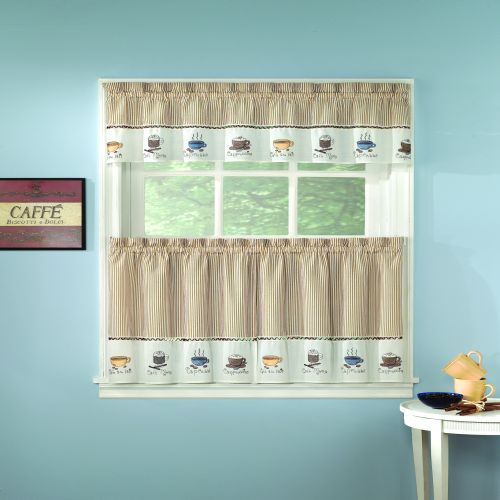 Java Kitchen Curtain | The Fair Home | For The House Pertaining To Grace Cinnabar 5 Piece Curtain Tier And Swag Sets (View 14 of 25)