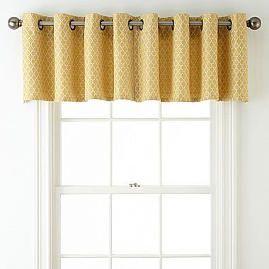 Jcpenney Home Rory Grommet Top Tailored Valance Jcpenney For Tailored Valance And Tier Curtains (View 25 of 25)