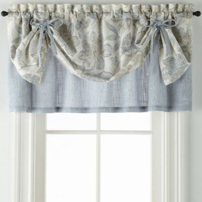 Jcpenney Home Sullivan Floral Layered Valance Rod Pocket Intended For Tailored Toppers With Valances (View 9 of 25)