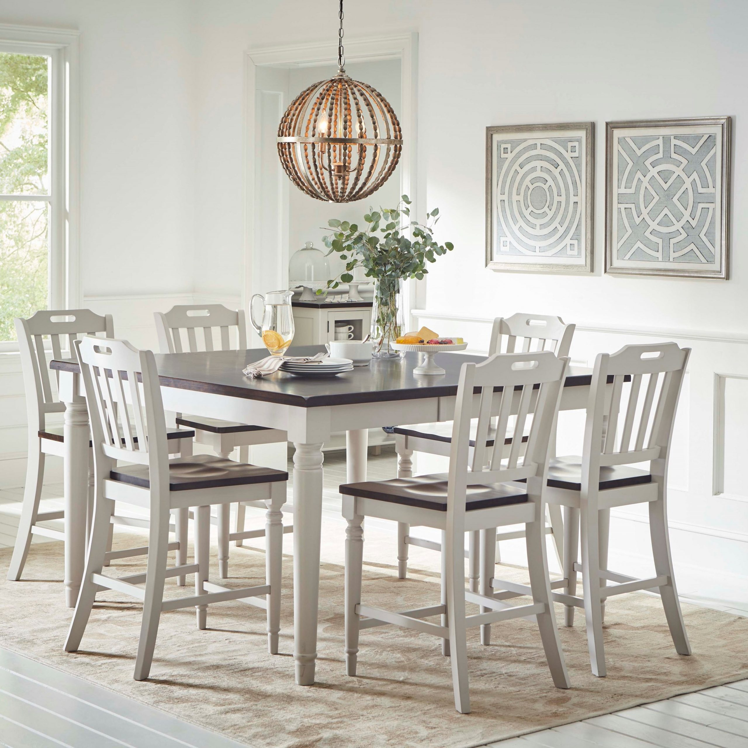 Jofran Orchard Park Counter Height Dining Table With 8 In Most Popular Carson Counter Height Tables (View 22 of 25)