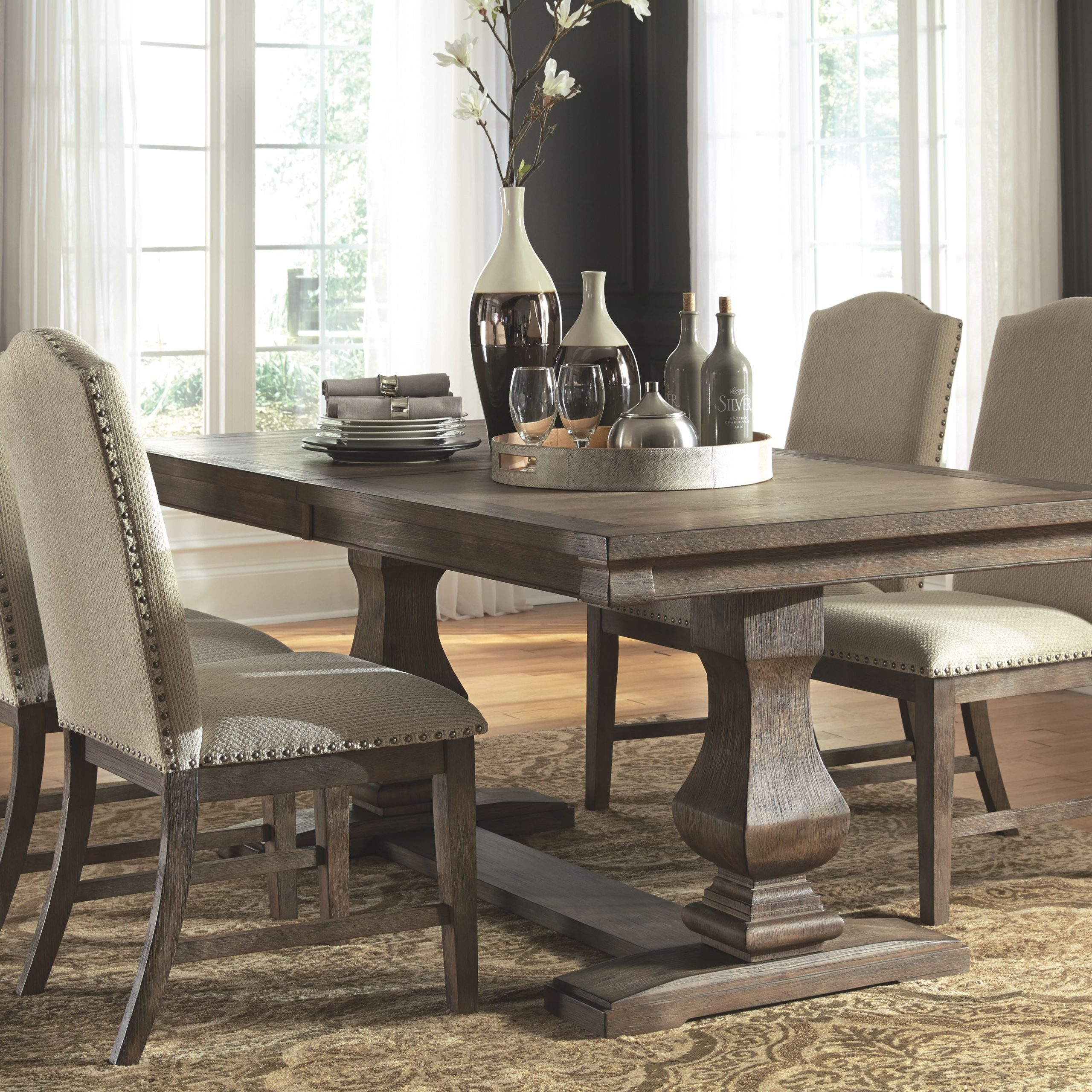 Johnelle 5 Piece Dining Room, Gray In 2019 | Dining Room For Most Popular Gray Wash Lorraine Extending Dining Tables (View 3 of 25)