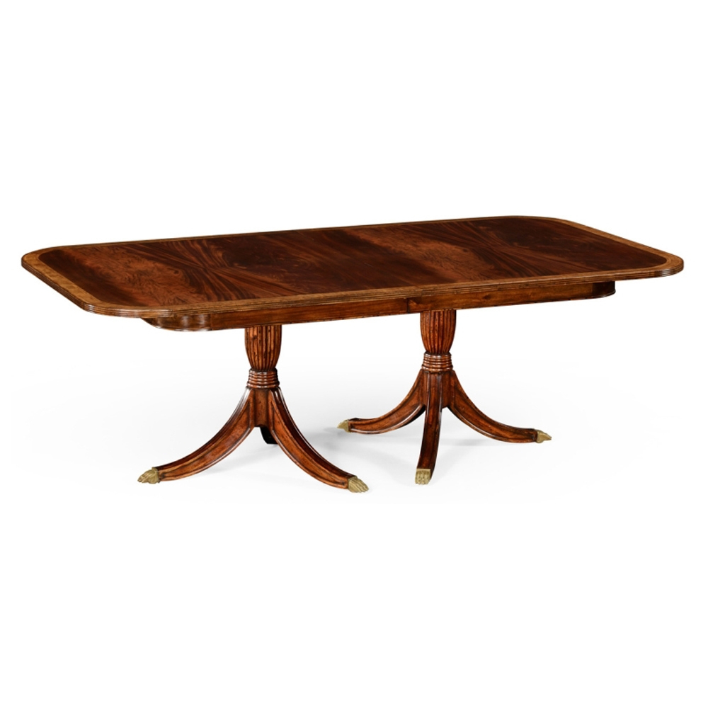 Jonathan Charles Home Regency Two Leaf Mahogany Extending Dining Table Throughout Most Recent Rustic Mahogany Extending Dining Tables (View 24 of 25)