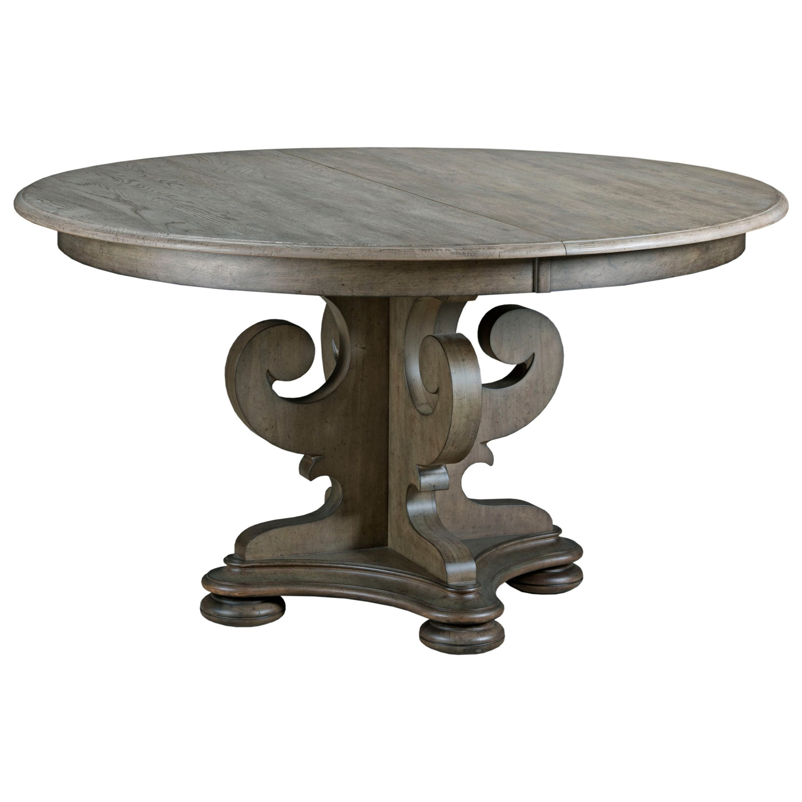 Kincaid Furniture Greyson Grant Scrolled Pedestal Round Throughout Recent Dawson Pedestal Dining Tables (Image 10 of 25)