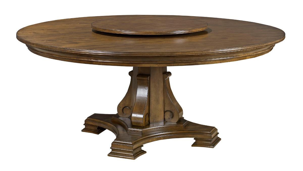 """Kincaid Furniture Portolone Stellia 72"""" Round Solid Wood With Recent Dawson Pedestal Dining Tables (Image 12 of 25)"""