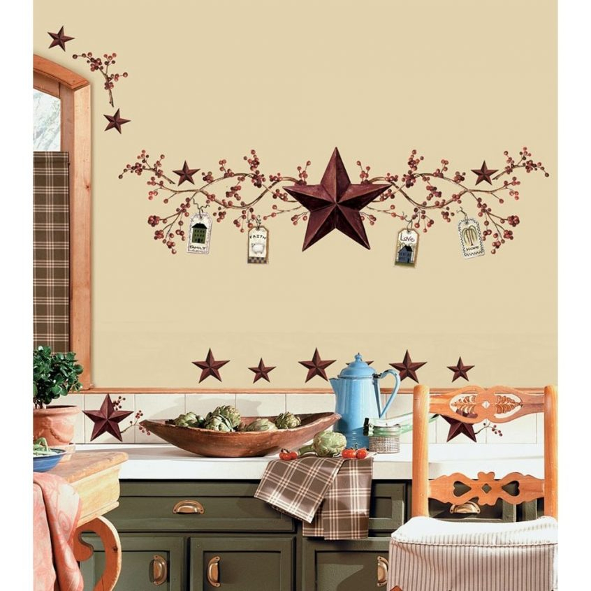 Kitchen Accessories: Lovely Country Themed Kitchen Decor For Within Kitchen Burgundy/white Curtain Sets (View 19 of 25)