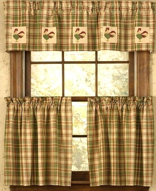 Kitchen Curtains And Valances – Lochnessaccommodation Intended For Red Rustic Kitchen Curtains (View 25 of 25)