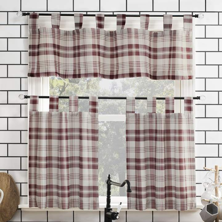 Kitchen Curtains And Valances – Shopstyle In Lodge Plaid 3 Piece Kitchen Curtain Tier And Valance Sets (View 23 of 25)