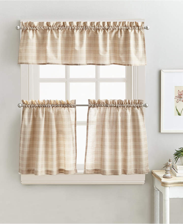 Kitchen Curtains And Valances – Shopstyle Inside Lodge Plaid 3 Piece Kitchen Curtain Tier And Valance Sets (View 17 of 25)