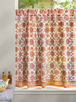 Kitchen Curtains, Cafe Curtains, Tiers, Window Treatment Pertaining To Cottage Ivy Curtain Tiers (View 24 of 25)