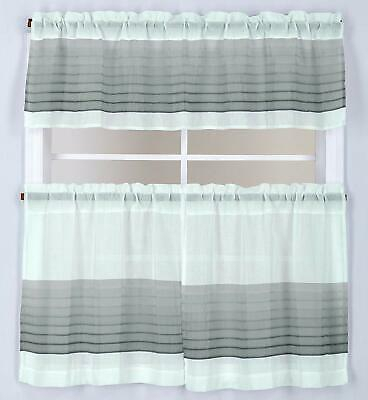 """Kitchen Curtains Set: 2 Tiers (57""""x 36"""") & Swag, Butterflies With Regard To Red Delicious Apple 3 Piece Curtain Tiers (View 25 of 25)"""