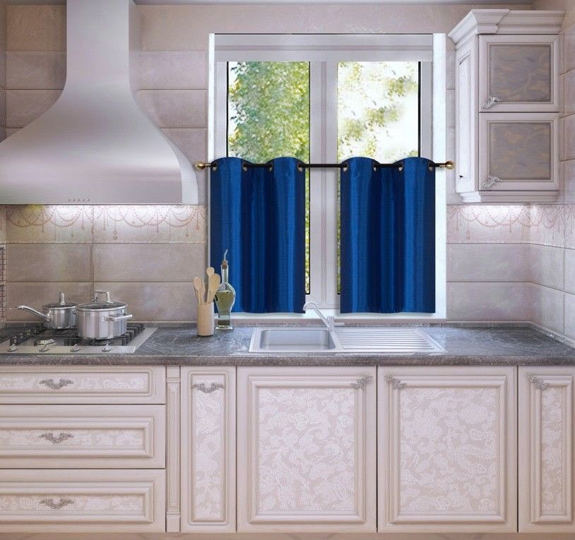 Kitchen Grommet Tier Window Curtain Panels Insulated Pertaining To Tranquility Curtain Tier Pairs (View 13 of 25)