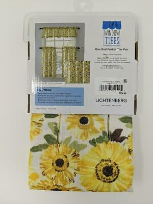 Kitchen Rod Valance 2 Pk Tier Cafe Curtains Light Filtering Throughout Light Filtering Kitchen Tiers (View 17 of 25)