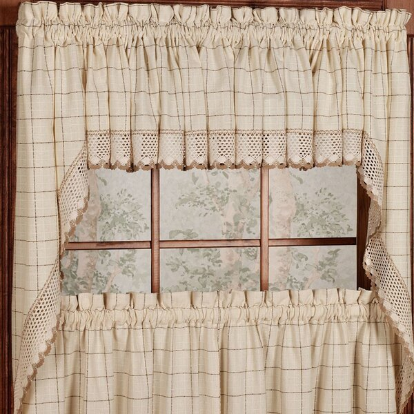 Kitchen Swag Valances | Wayfair With Cotton Lace 5 Piece Window Tier And Swag Sets (View 22 of 25)