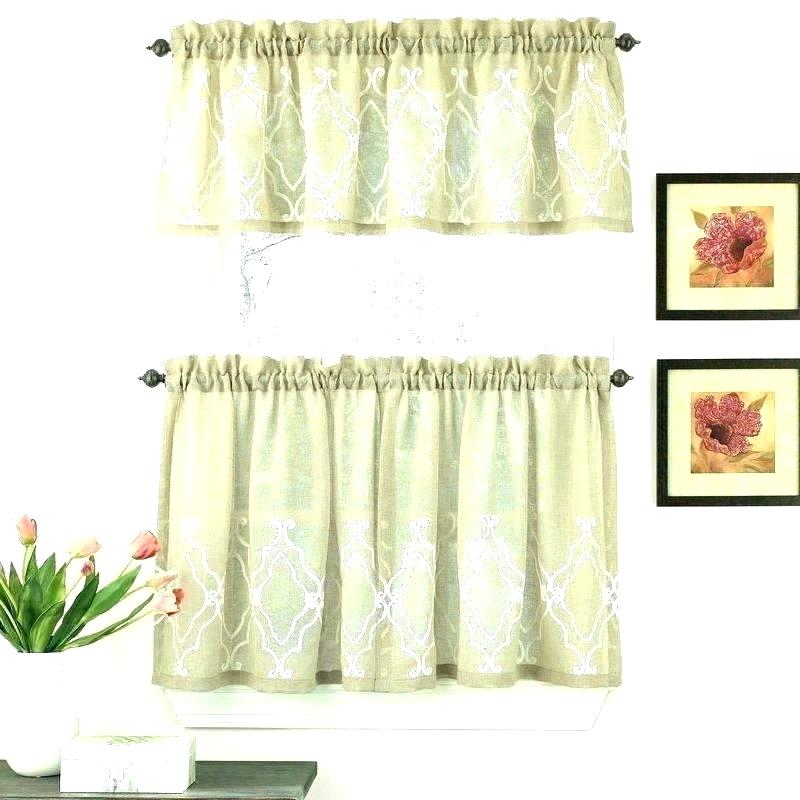 Kitchen Valances Coffee Theme Of Happiness Curtain Valance Throughout Coffee Drinks Embroidered Window Valances And Tiers (View 6 of 25)