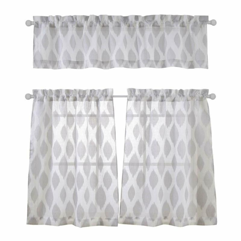 Kitchen Window Curtains | Window Curtains Throughout Faux Silk 3 Piece Kitchen Curtain Sets (View 25 of 25)