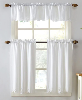 Kitchen Window Rod Valance 2Pk Tier Cafe Curtains Georgia Pertaining To Wallace Window Kitchen Curtain Tiers (View 8 of 25)