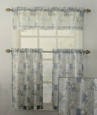 Kitchen Window Rod Valance 2Pk Tier Cafe Sheer Curtains Pertaining To Medallion Window Curtain Valances (View 4 of 25)