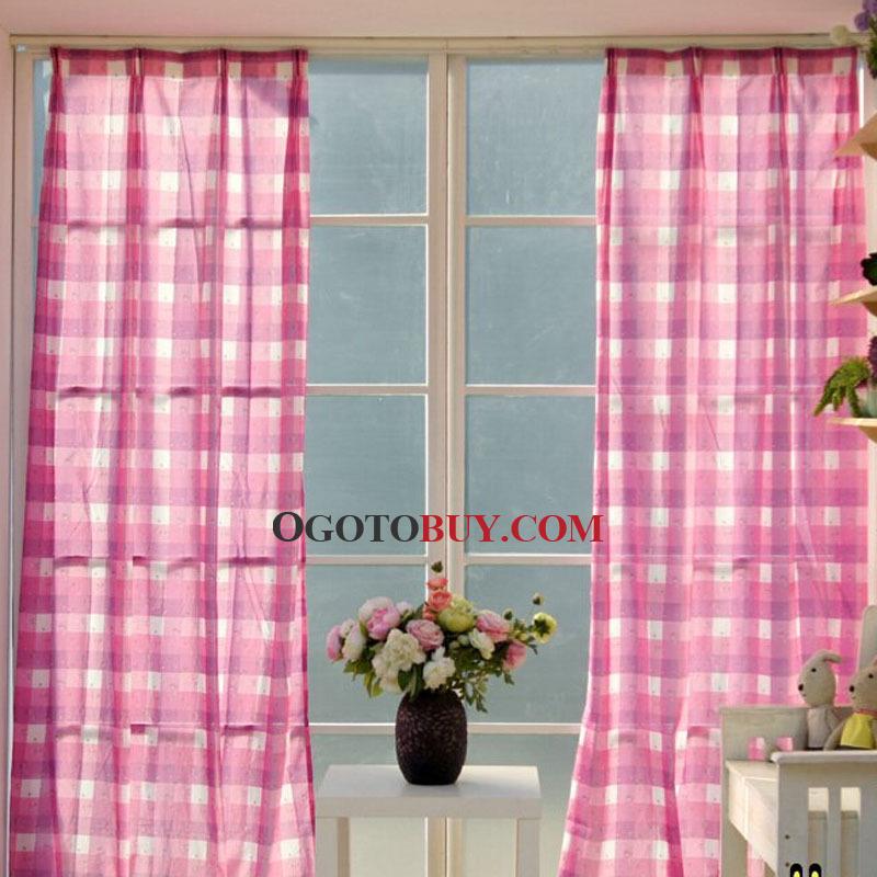 Klassische Plaid Baumwolle Leinen Mischgewebe Günstige Throughout Cotton Blend Classic Checkered Decorative Window Curtains (View 2 of 25)