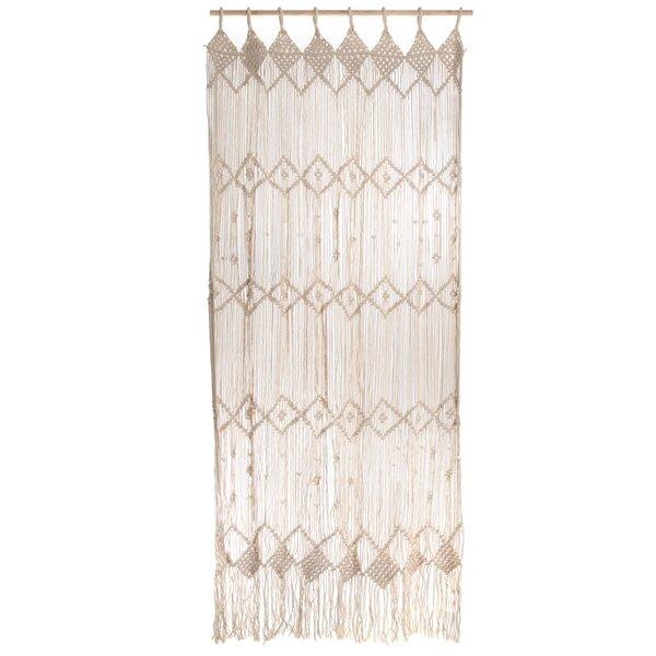 Lace Macrame Curtains | Wayfair For Class Blue Cotton Blend Macrame Trimmed Decorative Window Curtains (View 3 of 25)