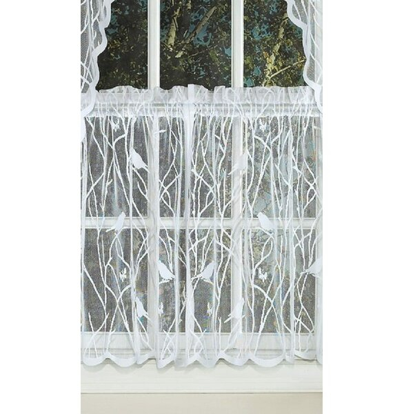 Lace Tiers | Wayfair Within Sheer Lace Elongated Kitchen Curtain Tier Pairs (View 3 of 25)