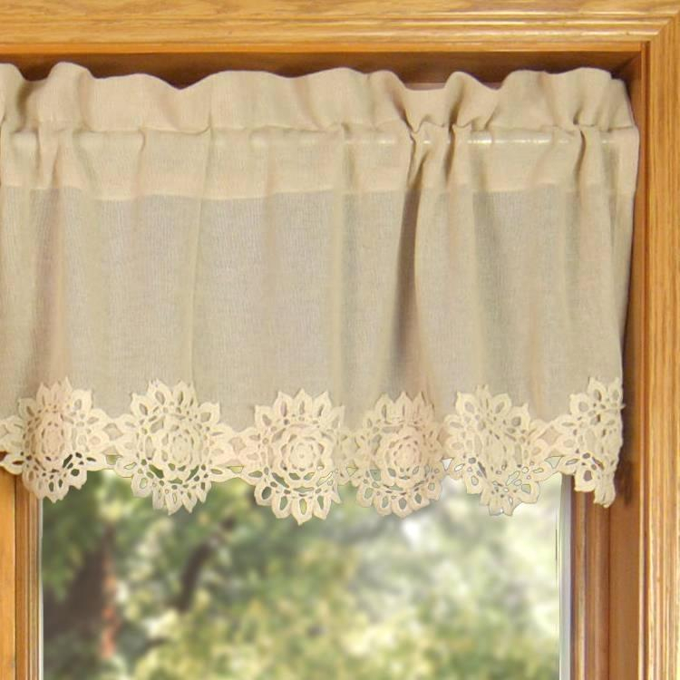 Lace Valance Curtains – Brickandwillow (Image 15 of 25)