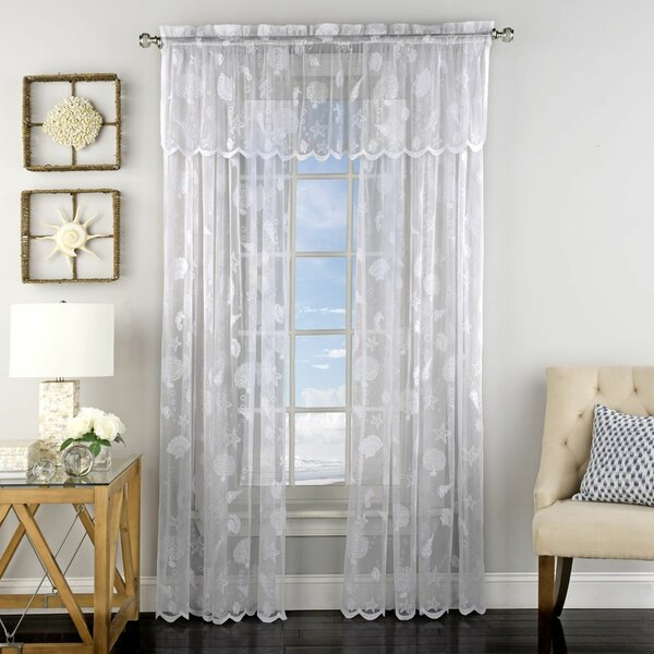 Featured Image of Marine Life Motif Knitted Lace Window Curtain Pieces