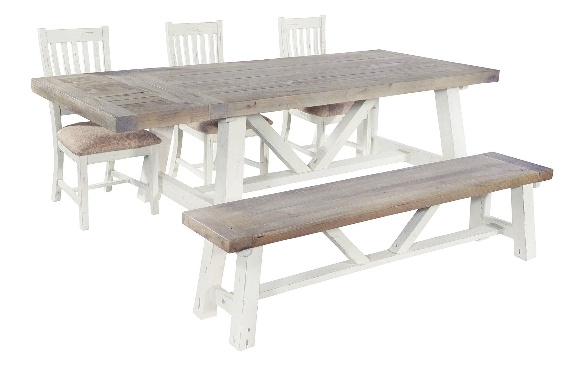 Langton End Extending 200Cm Dining Table | Kitchen Diner With 2017 Langton Reclaimed Wood Dining Tables (View 5 of 25)
