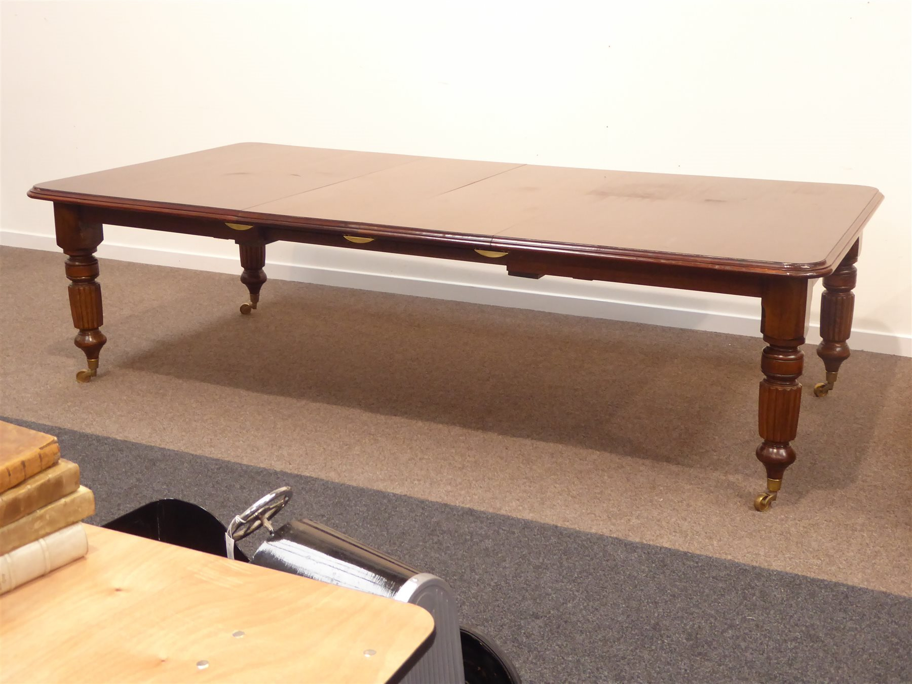 Large Victorian Style Mahogany Dining Table, Rectangular For Current Reed Extending Dining Tables (View 23 of 25)