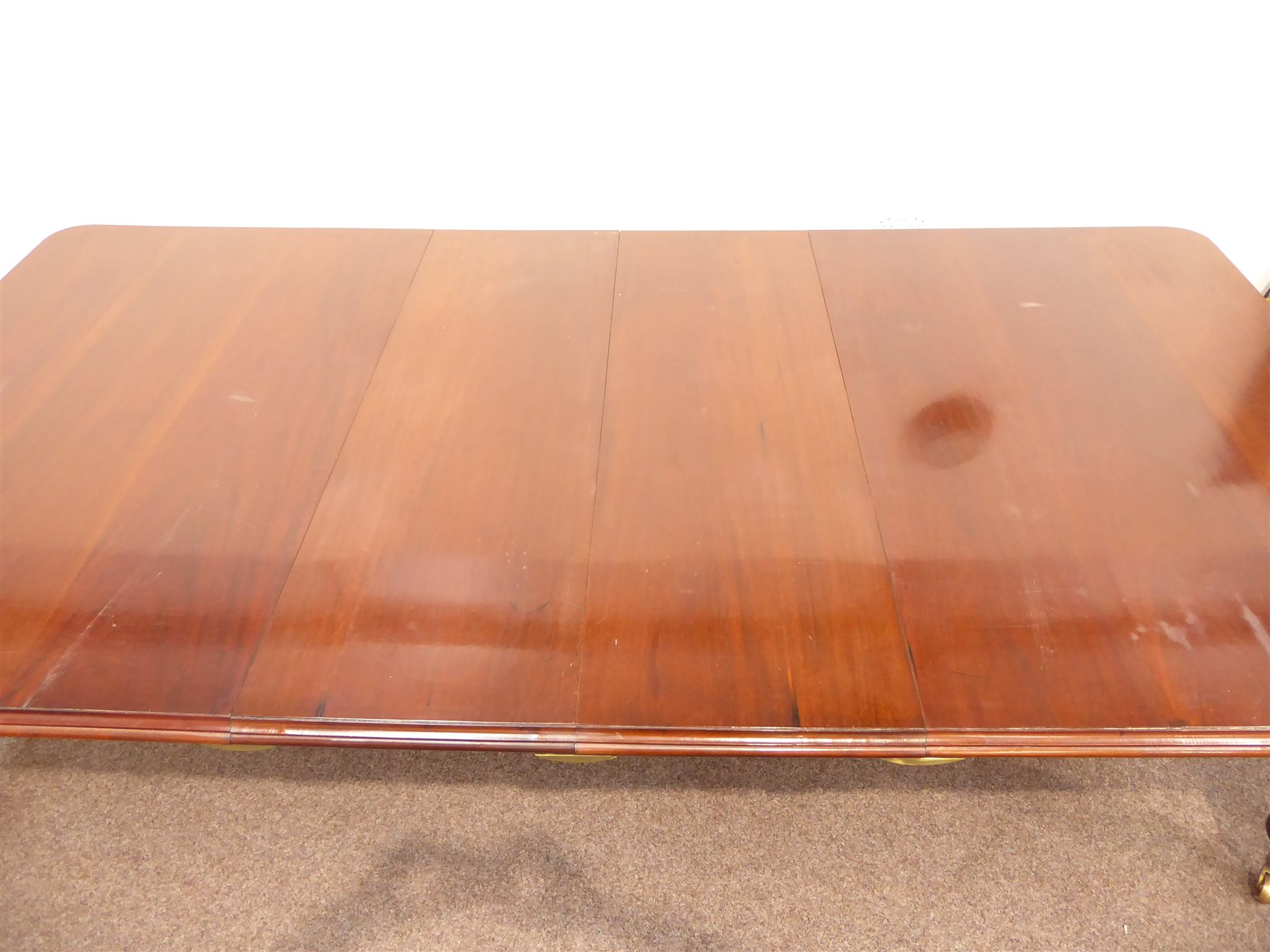 Large Victorian Style Mahogany Dining Table, Rectangular Pertaining To Latest Reed Extending Dining Tables (View 25 of 25)