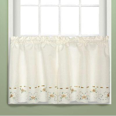 "Lark Manor Vierzon Tier Curtain Size: 24"" H X 60"" W X (View 4 of 25)"