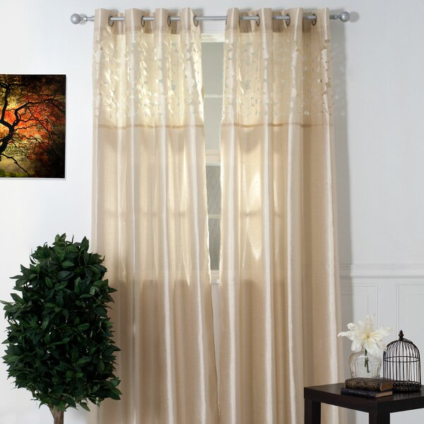 Laser Cut Sheer Curtains | Wayfair Pertaining To Grace Cinnabar 5 Piece Curtain Tier And Swag Sets (View 24 of 25)