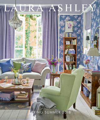 Laura Ashley Spring Summer 2018Stanislav Petkanov – Issuu Within Floral Blossom Ink Painting Thermal Room Darkening Kitchen Tier Pairs (View 22 of 25)