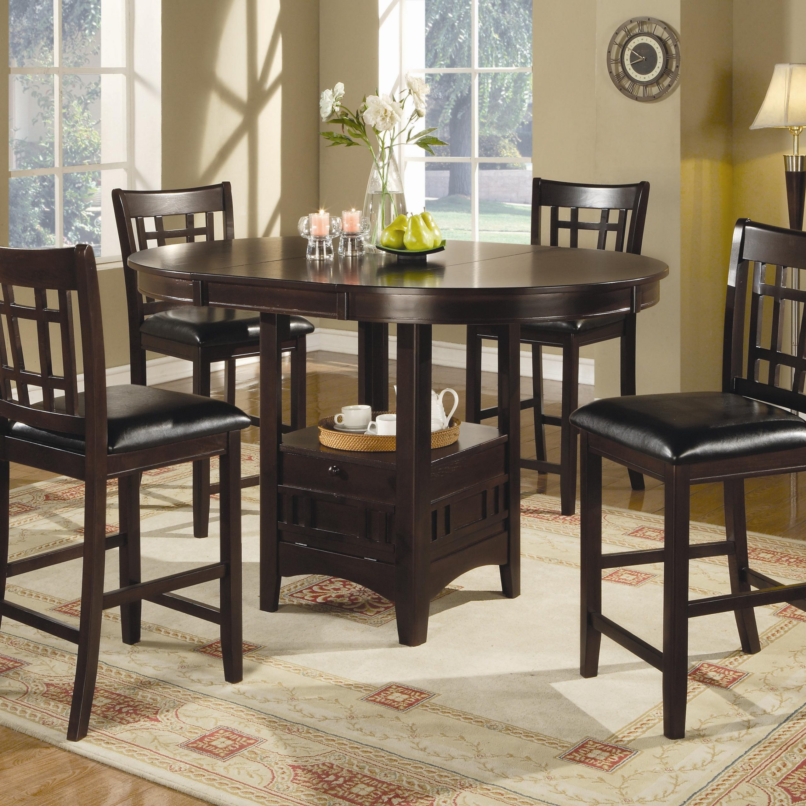 Lavon 7 Piece Counter Table And Chair Set With 2018 Avondale Counter Height Dining Tables (View 15 of 25)