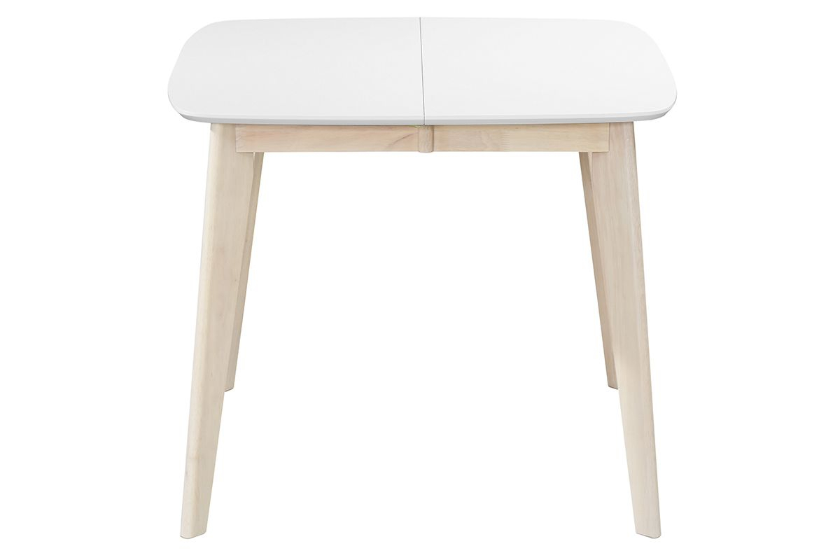 Leena Scandinavian Extendable Square Dining Table In White For Most Up To Date Ingred Extending Dining Tables (View 20 of 25)