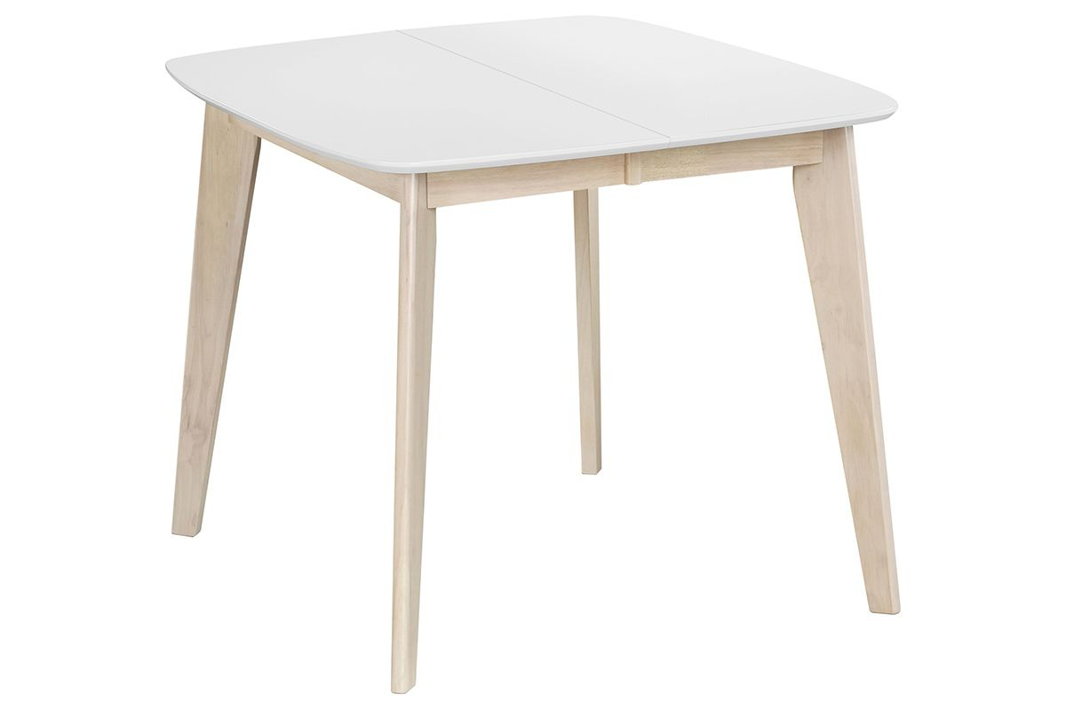 Leena Scandinavian Extendable Square Dining Table In White In 2018 Ingred Extending Dining Tables (View 13 of 25)