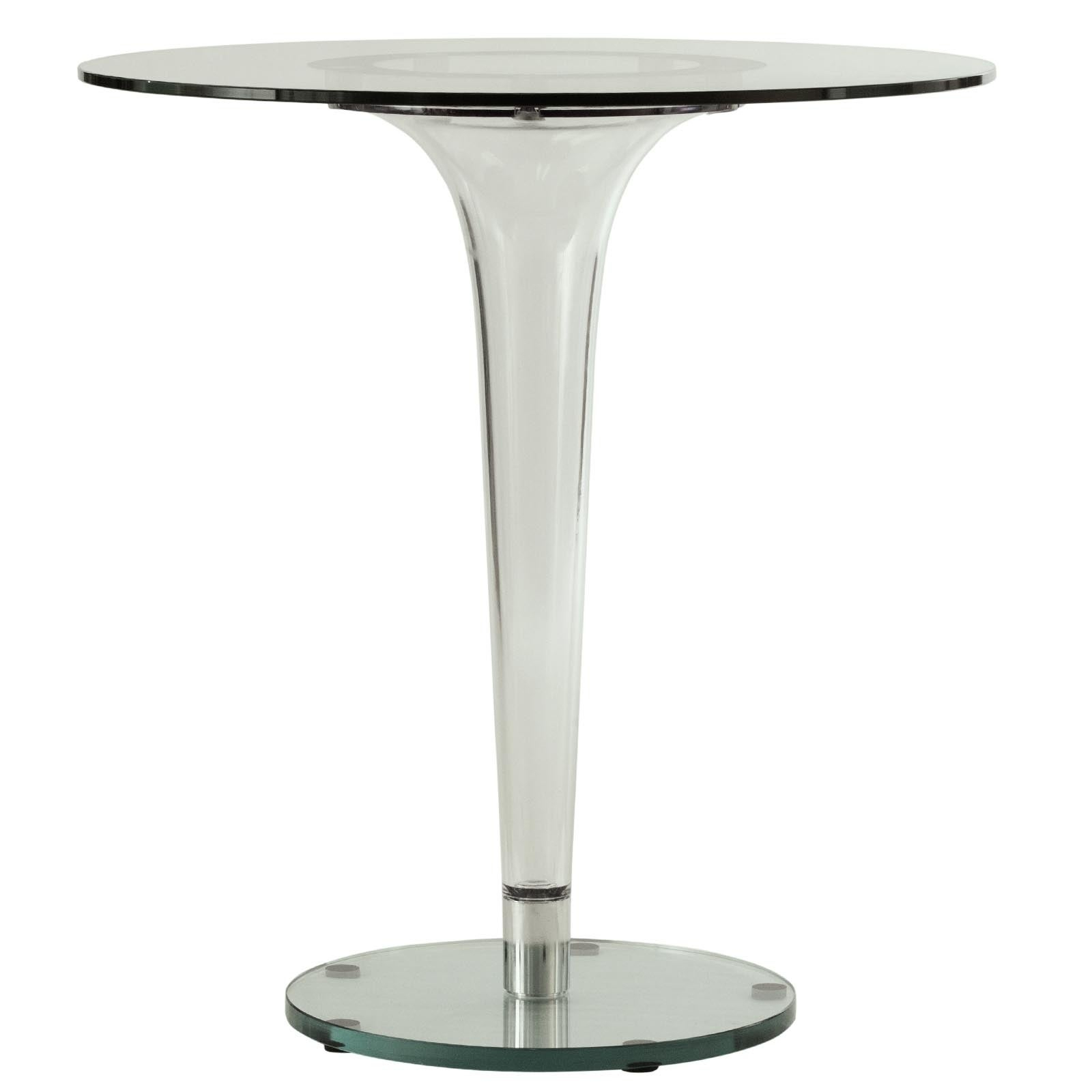 Leisuremod Linden Modern 28 Inch Round Glass Accent Dining Table – Clear – 27X27 Inside 2017 Linden Round Pedestal Dining Tables (View 9 of 25)
