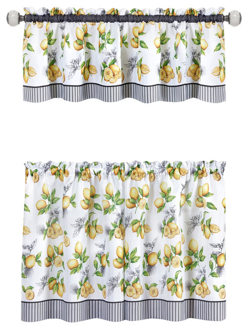 Featured Image of Lemon Drop Tier And Valance Window Curtain Sets