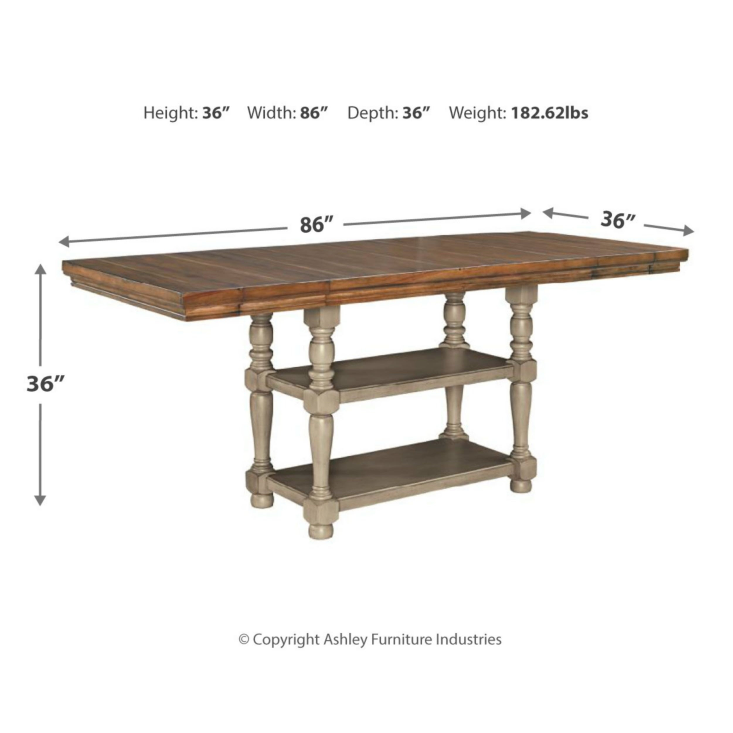 Lettner Rectangular Dining Room Counter Extension Table – Gray/brown Within Most Up To Date Griffin Reclaimed Wood Bar Height Tables (View 24 of 25)