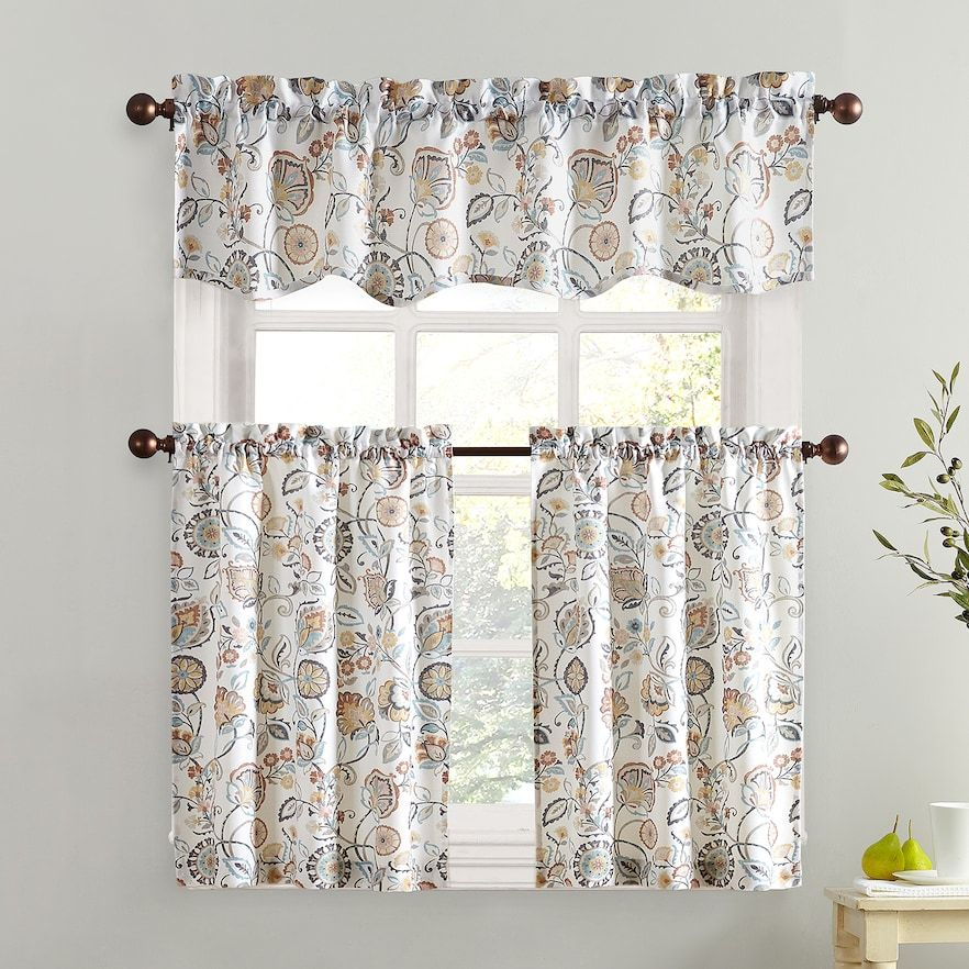 """Lichtenberg Forest Friends 56"""" X 24"""" Pair Of Tier Curtains With Regard To Hopscotch 24 Inch Tier Pairs In Neutral (Image 11 of 25)"""