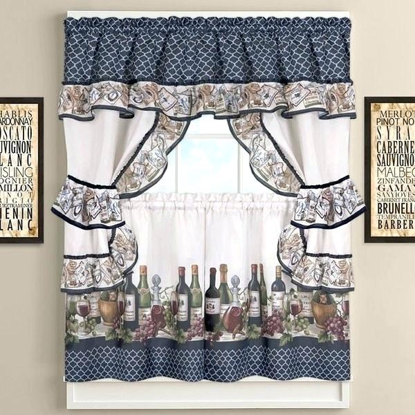 Licious Grape Kitchen Curtains Vine Purple Wine And Valances Regarding Delicious Apples Kitchen Curtain Tier And Valance Sets (Image 16 of 25)