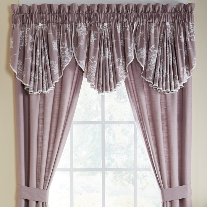"Liliana Circle 42"" Window Valance With Circle Curtain Valances (View 14 of 25)"