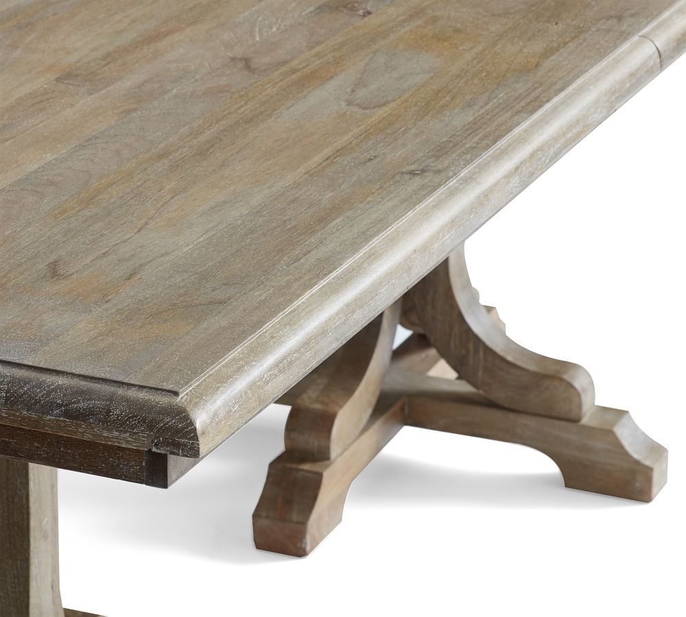 Linden Extending Dining Table With Regard To 2018 Gray Wash Benchwright Extending Dining Tables (View 9 of 25)