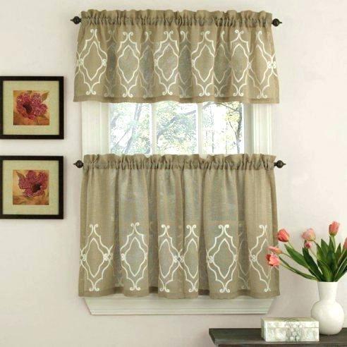 Linen Kitchen Curtains – Reginemeitan Within Linen Stripe Rod Pocket Sheer Kitchen Tier Sets (View 12 of 25)