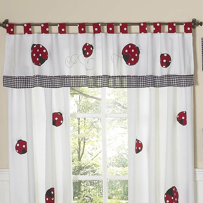"Little Ladybug 84"" Window Valance Within Embroidered Ladybugs Window Curtain Pieces (View 24 of 25)"