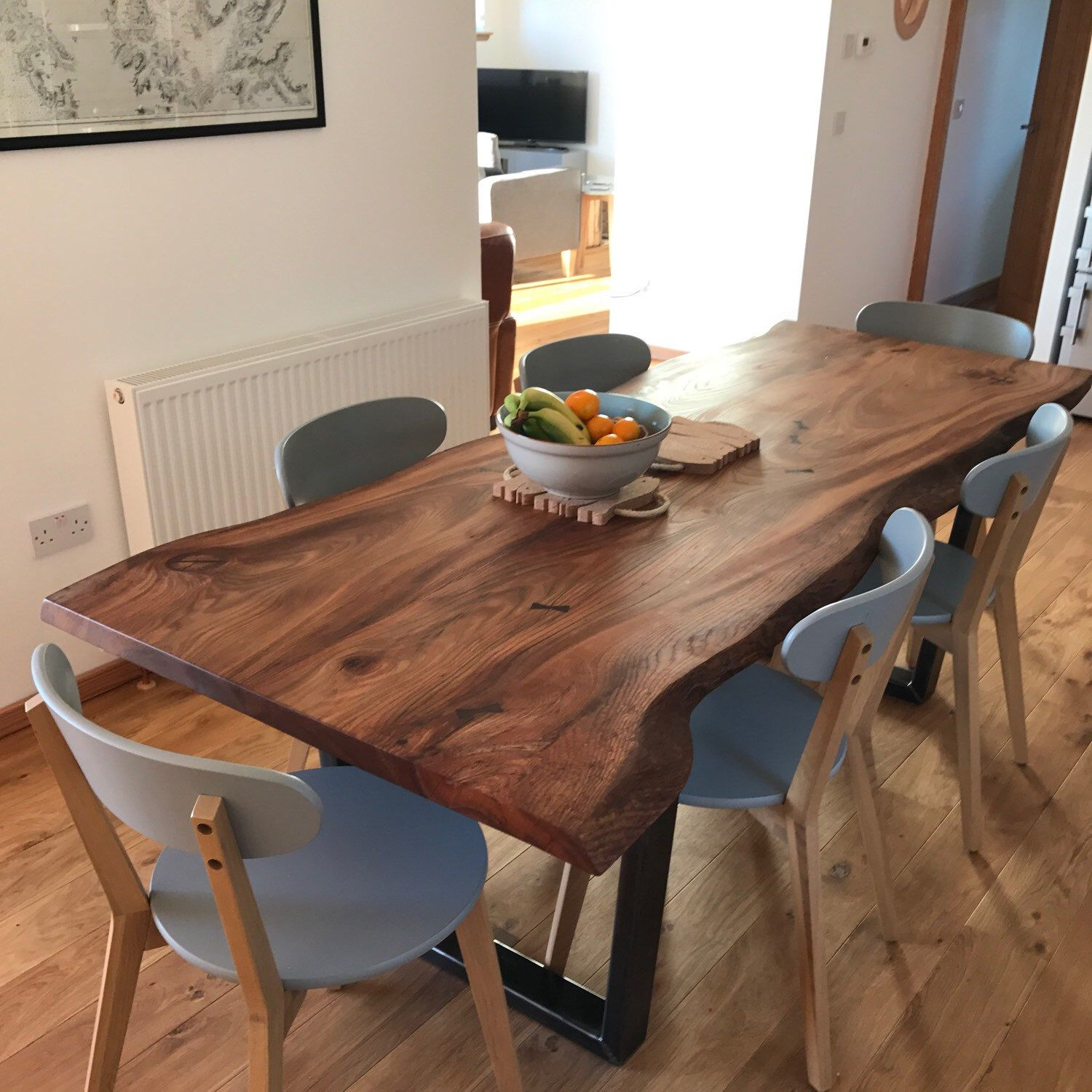 Live Edge Elm Dining Table On Box Steel Legs In 2019 Regarding Most Popular West Dining Tables (Image 12 of 25)