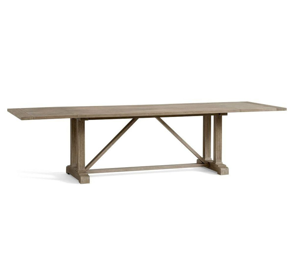 Featured Image of Gray Wash Livingston Extending Dining Tables