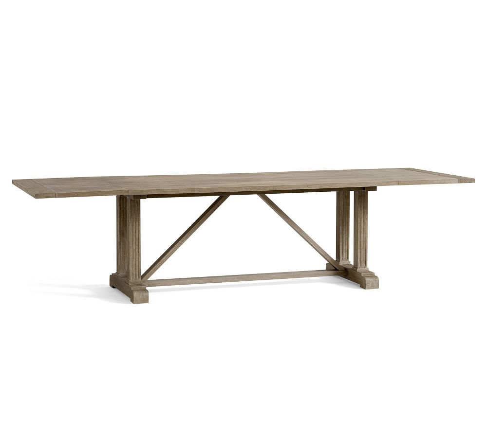 Livingston Extending Dining Table Regarding Most Popular Gray Wash Benchwright Dining Tables (View 20 of 25)