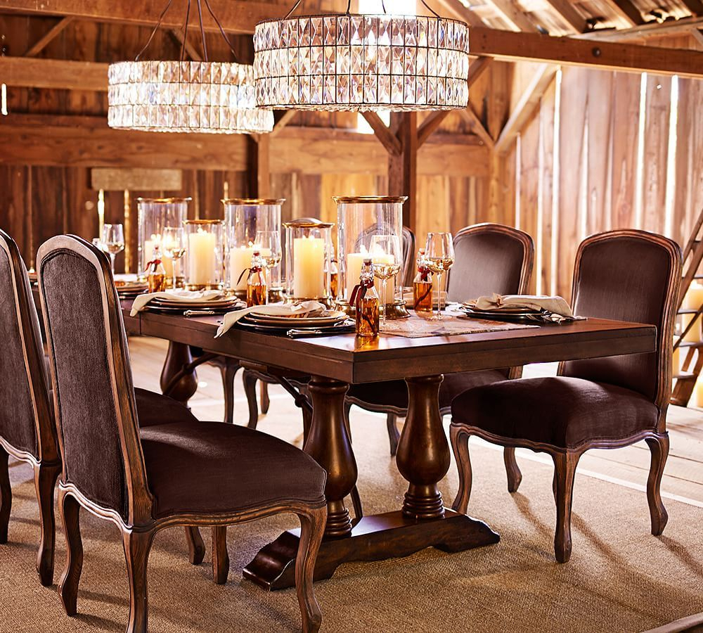Lorraine Extending Dining Table, Hewn Oak | Dining Table Inside Current Rustic Brown Lorraine Extending Dining Tables (View 5 of 25)