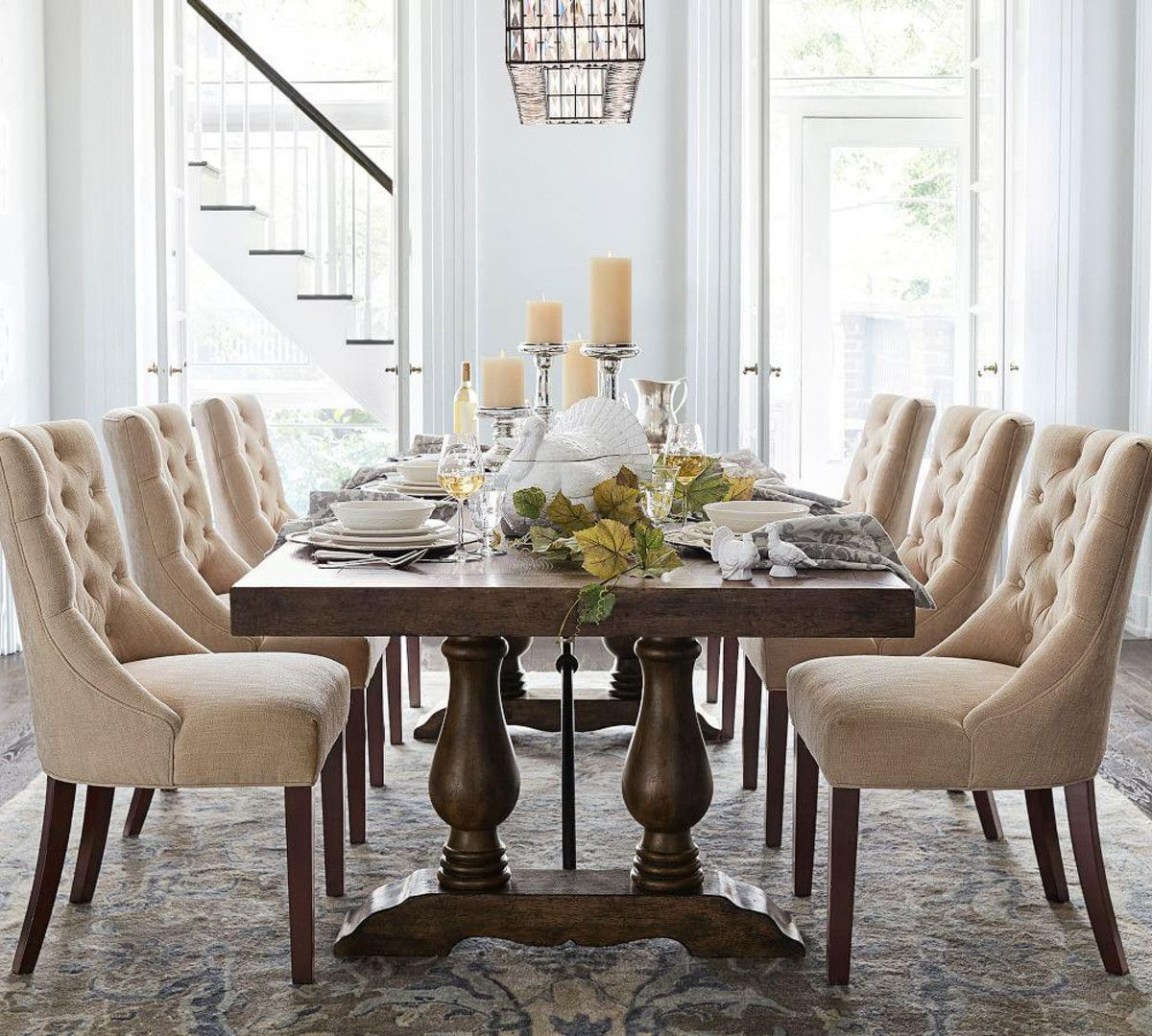 Lorraine Extending Dining Table In 2019 | Woodworks With Regard To Newest Hewn Oak Lorraine Pedestal Extending Dining Tables (View 4 of 25)
